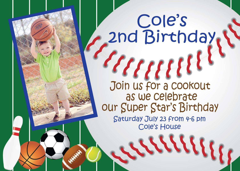 baseball invite, All Star Birthday Invitation, All Star Invitation ...