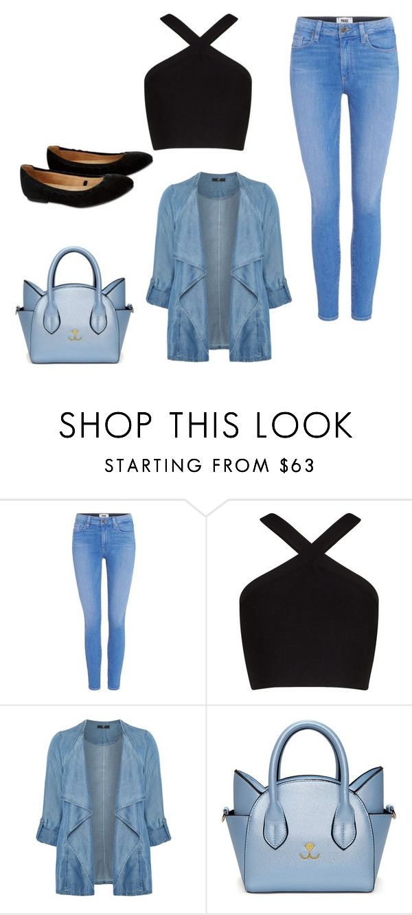 """""""Untitled #68"""" by amrabasic ❤ liked on Polyvore featuring Paige Denim, BCBGMAXAZRIA, Evans and Accessorize"""