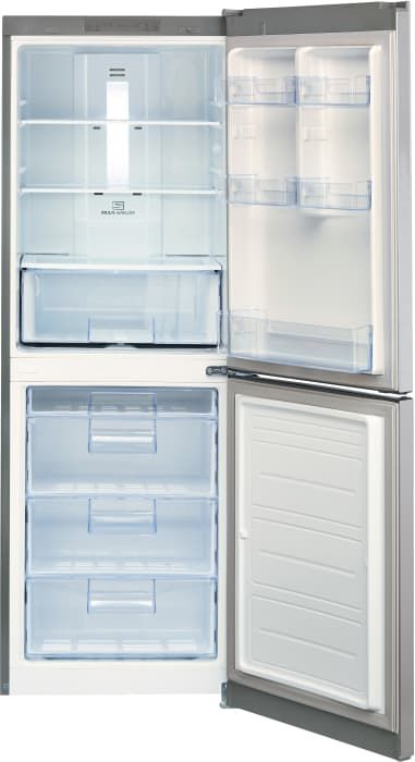 LG LBN10551PS 24 Inch Counter Depth Bottom-Freezer Refrigerator with SmartDiagnosis™, Spill Protector™ Glass Shelves, Digital Temperature Controls, Multi-Air Flow, 4 Freezer Drawers, 10.1 cu. ft. Capacity, LED Panels, Door Alarm and Pocket Handles: Platinum Silver