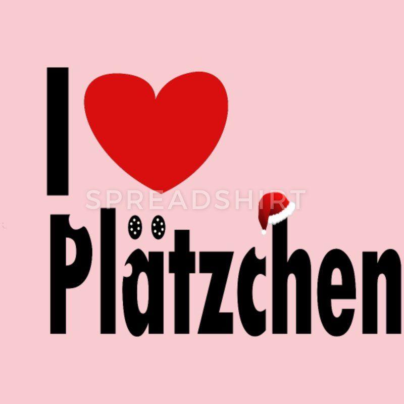 I love Plätzchen Christmas Design super aktuell Frauen Premium T ...
