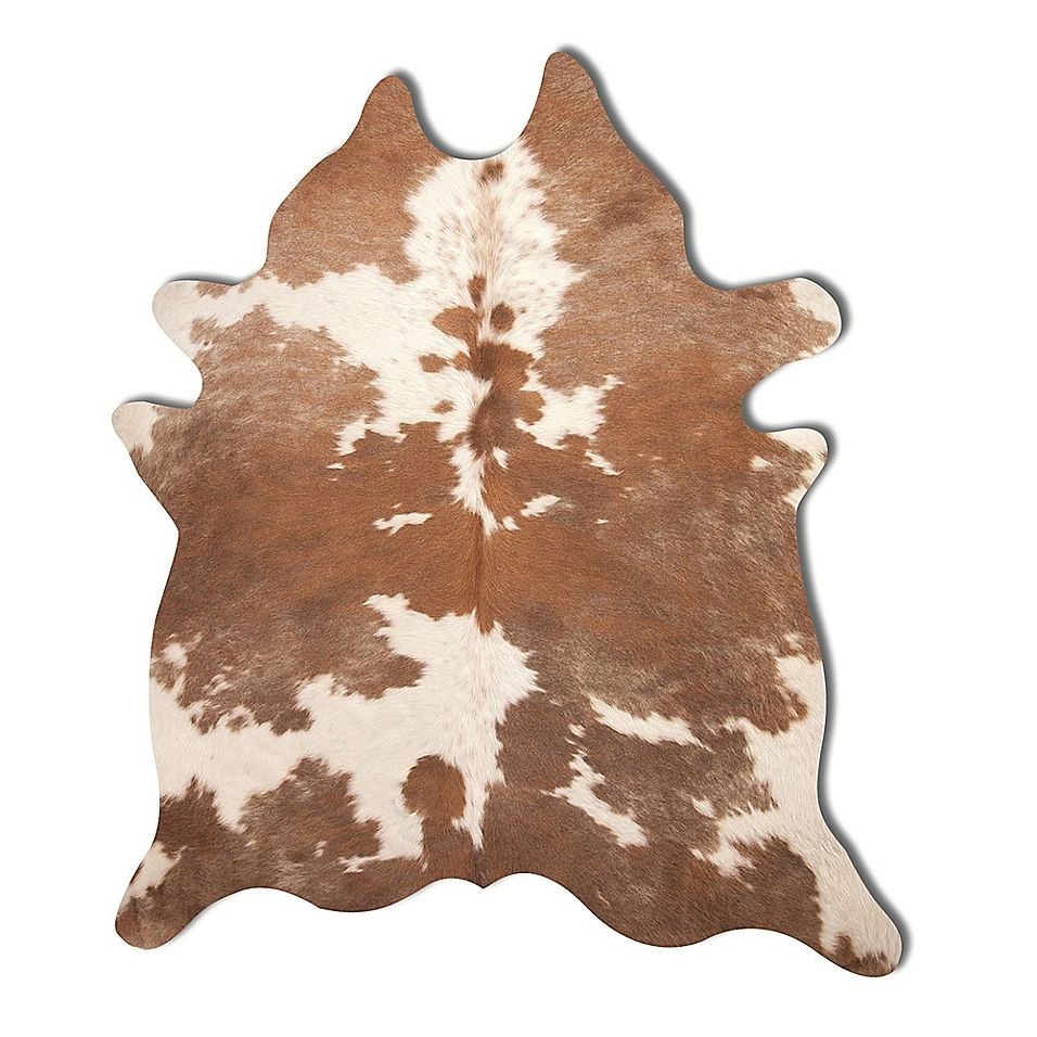 Natural Rugs Kobe Cowhide 6' X7' Area Rug In Brown/white