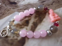 Armband MY BUDDHA *rosa-grau* - Artikeldetailansicht - hintz + töchter