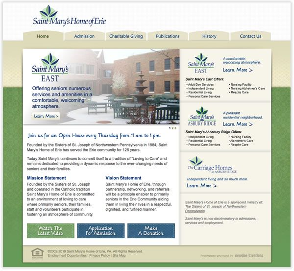 Saint Mary S Home Of Erie Saint Marys Erie Charitable Giving