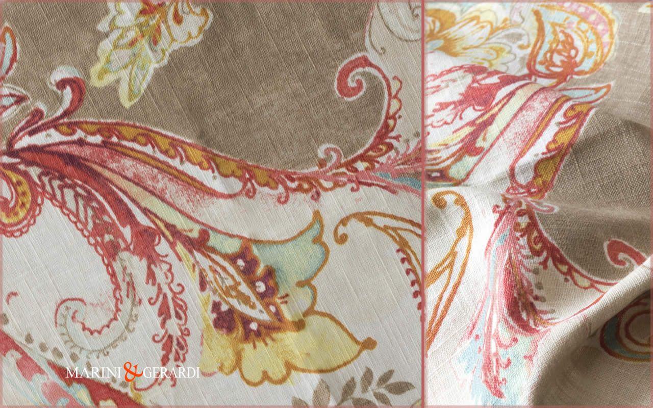 Tessuti Arredamento Per Divani lino stampato a metraggio per divani, tende e arredo