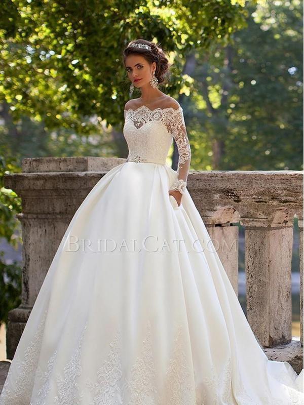 Lange Schleppe Lang MillaNova Dominica Prinzessin-Linie | Hochzeit ...