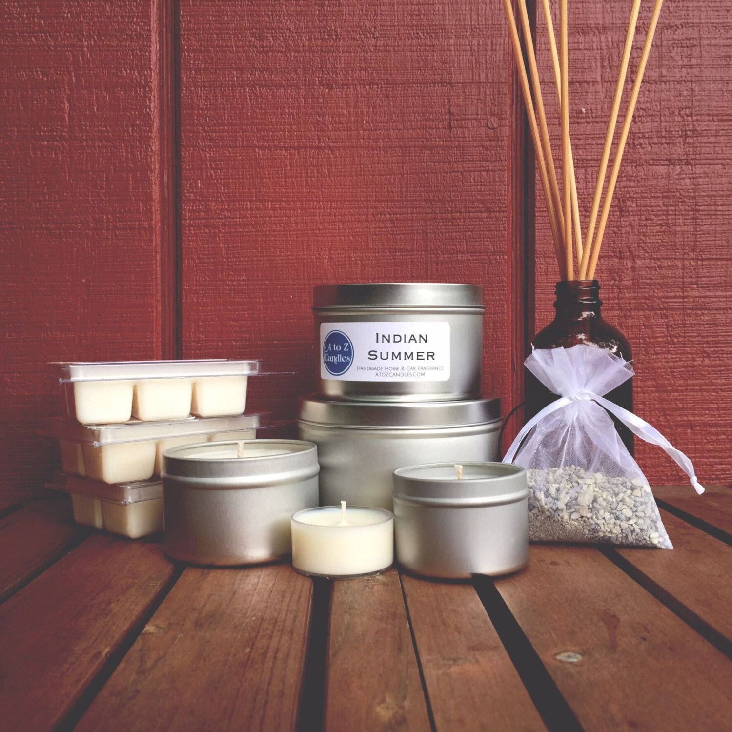 INDIAN SUMMER, Autumn Candle, Soy Candle, Strawberry, Apple, Pear, Basil, Oak, Geranium, Fall Soy Wax Melt, Car Freshener, Reed Diffuser by AtoZCandles on Etsy https://www.etsy.com/listing/452240608/indian-summer-autumn-candle-soy-candle