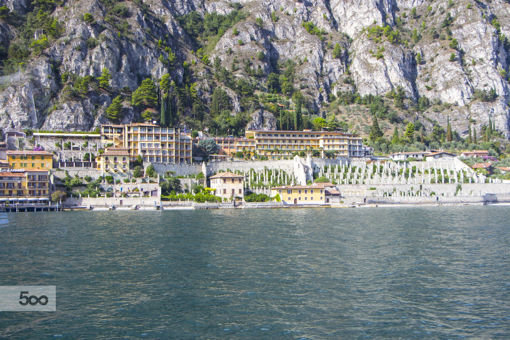 The city Limone on the shores of Lake Garda! by moonlotus87 on 500px