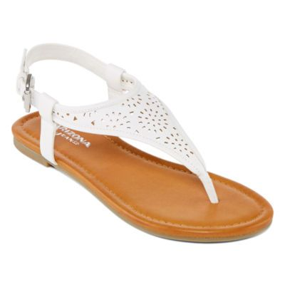 3132291db Arizona Sari Womens Flat Sandals - JCPenney Gold Flat Sandals