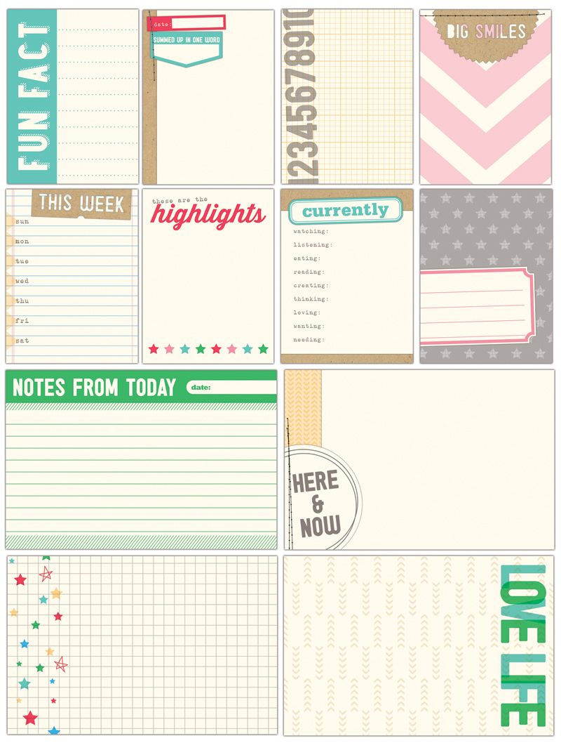 Everyday Moments Journaling Tags from Elle's Studio - perfect for Project Life, layouts, and mini books!