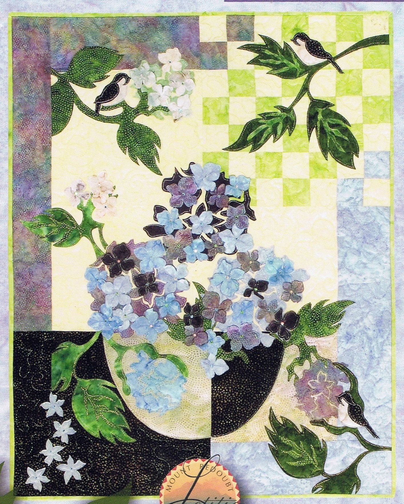 New aria dimensional floral spring quilt pattern 3d wall
