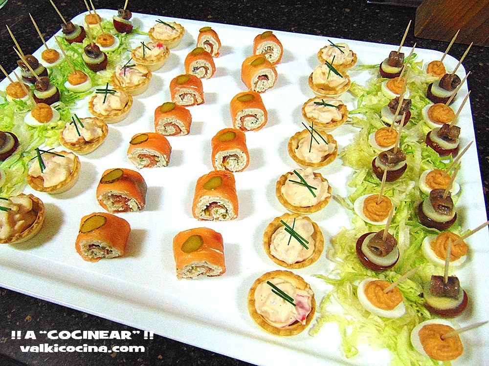 Aperitivos r pidos bandeja de canap s food pinterest for Decoration canape
