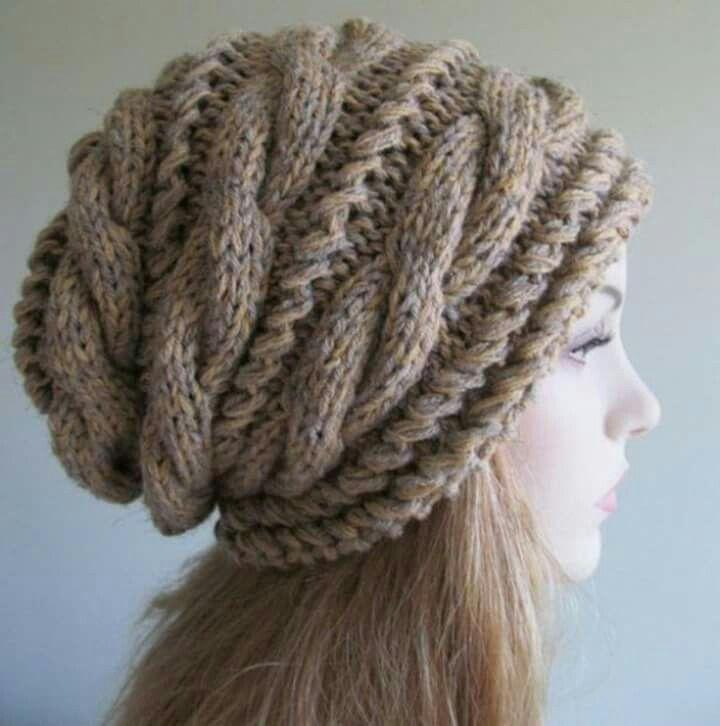 Gorro con agujas | manos creativas a crochet | Pinterest