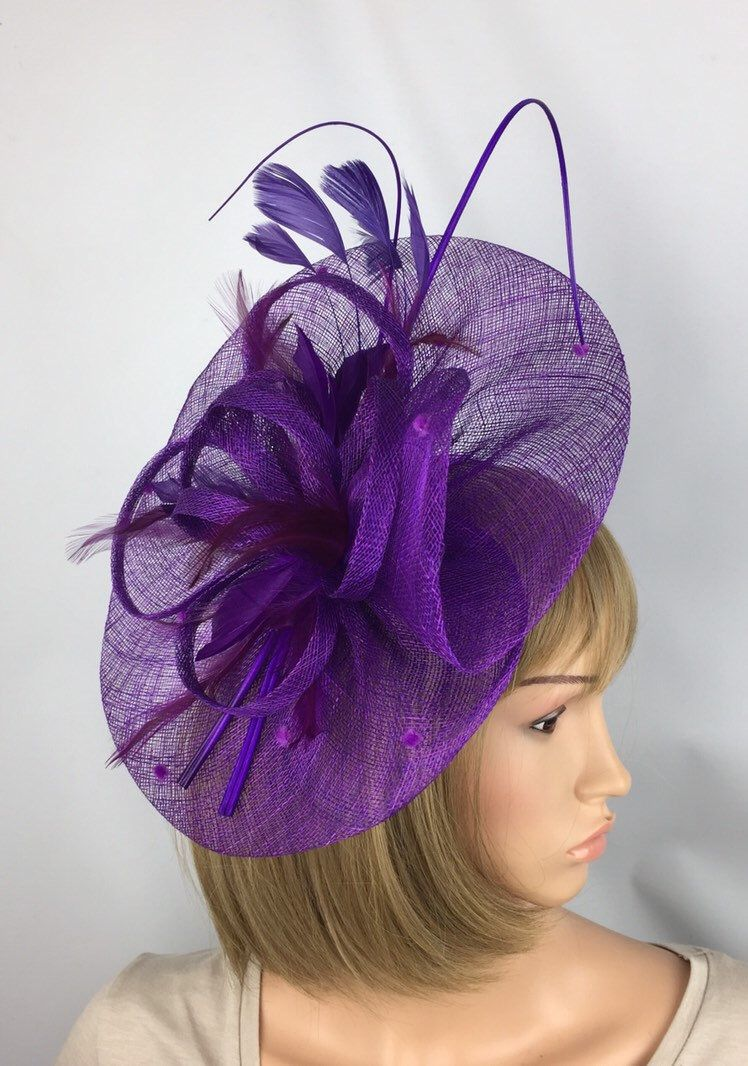 6334854b A Pretty Elegant Purple fascinator perfect for a wedding, mother of the  bride or guest, a day at the races, a tea party, bbq, dinner dance or a  memorable ...