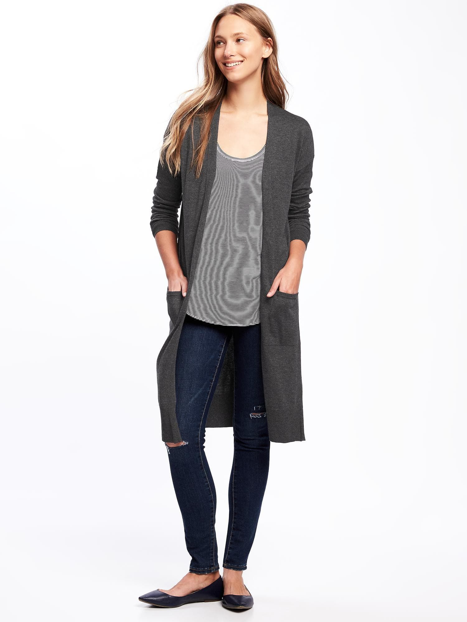 Open-Front Super-Long Sweater for Women | Old Navy | Wishlist ...