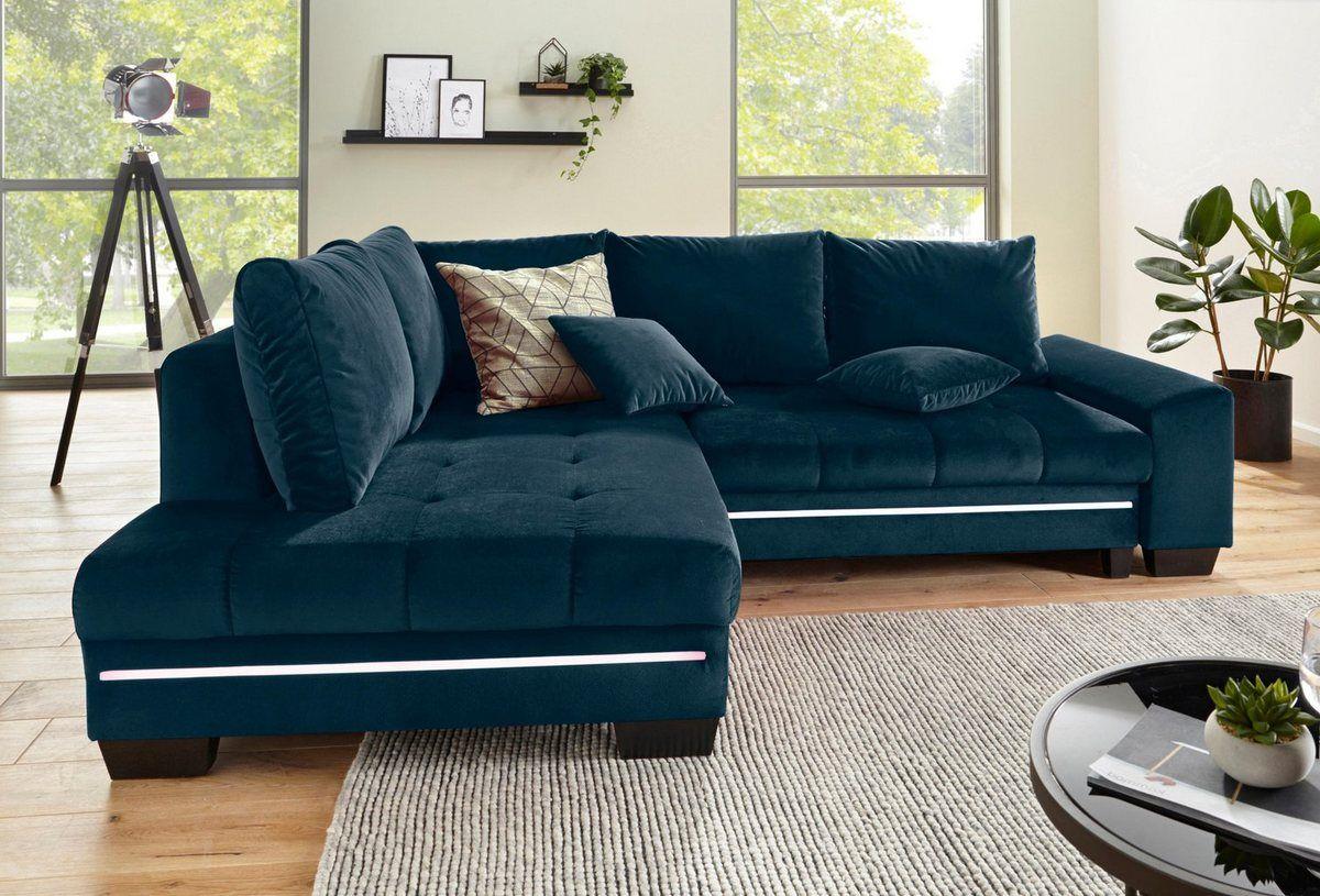 Ecksofa Wahlweise Mit Bettfunktion Sofa Design Fabric Sofa