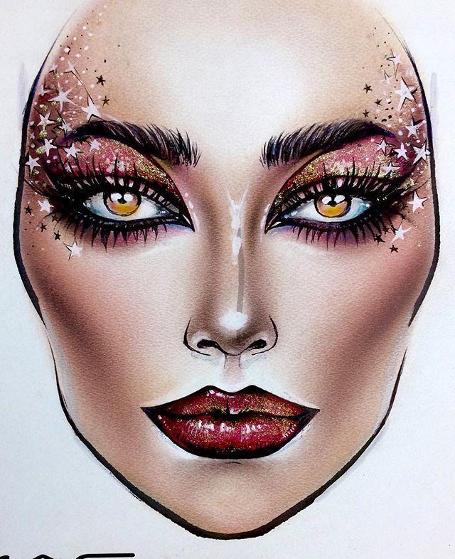 on Makeup face charts, Makeup charts, Makeup drawing