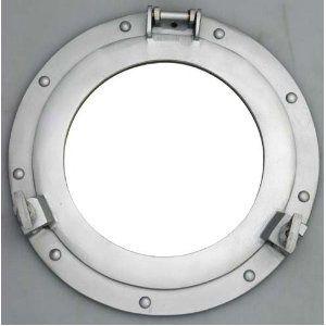 11 Aluminum Porthole Mirror Nautical Ship Decor