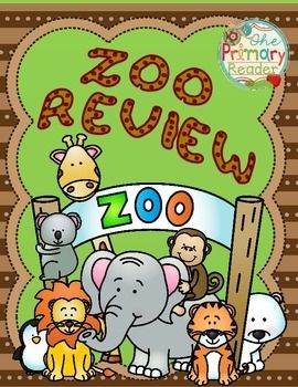 NEW UPDATES FOR 2014~ New graphics, fonts and activities! So we're going to the zoo!! - How about you? This unit is a wonderful review of first grade skills and may be used to introduce younger student to new skills as well. Use it at the end of the year, as part of your zoo and jungle units or summer school.This unit includes:2- Story problem printablesSubtraction and Addition centers for combinations that make 10Compound word centerContraction centerSyllable printableverb tenselong vowels…