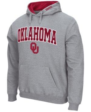 Colosseum Men's Oklahoma Sooners Arch Logo Hoodie - Gray XL