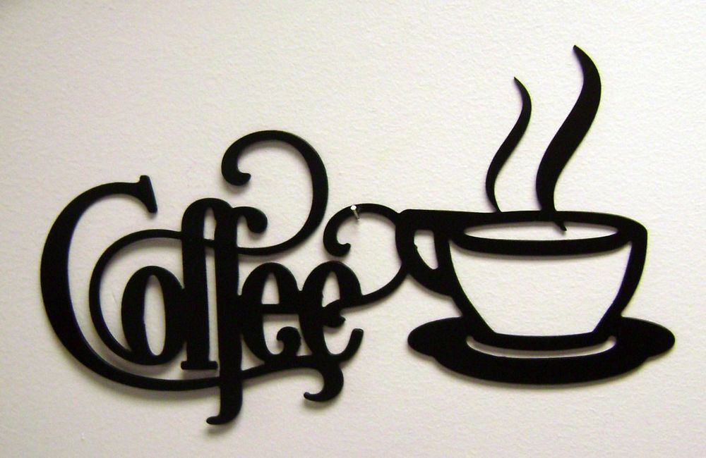 Black Coffee Sign With Mug Metal Kitchen Wall Decor Coffee Wall Decor Coffee Signs Kitchen Wall Art