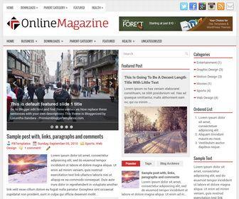 OnlineMagazine Blogger Template