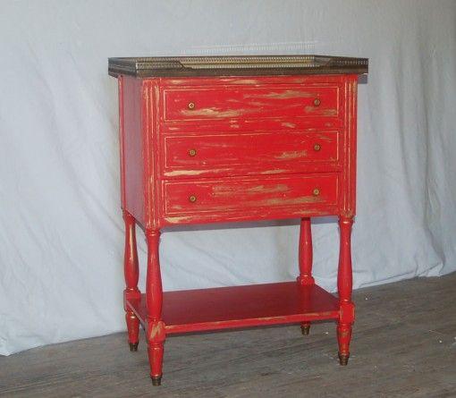 Console Ou Gueridon Bois Et Marbre Rouge Et Or Gueridon Bois Marbre Rouge Console