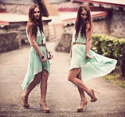 im just obsessed with mint and in love with high to low dresses