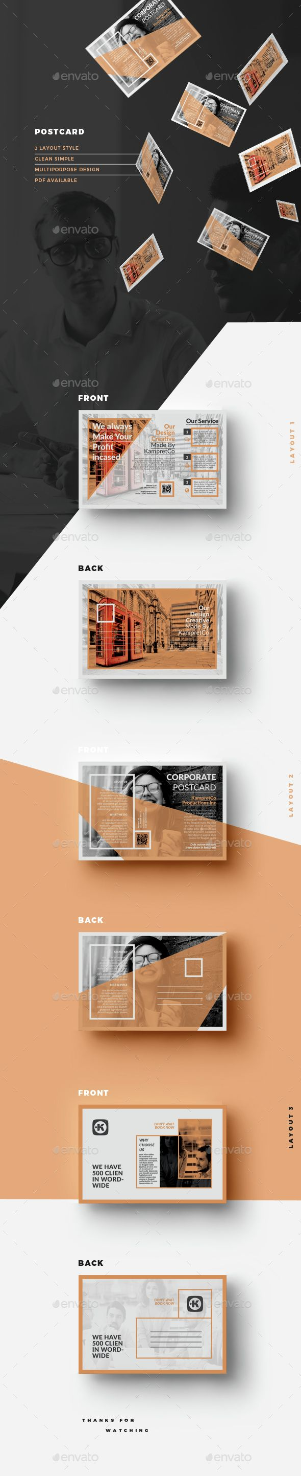 Postcard Template InDesign INDD. Download here: http://graphicriver ...