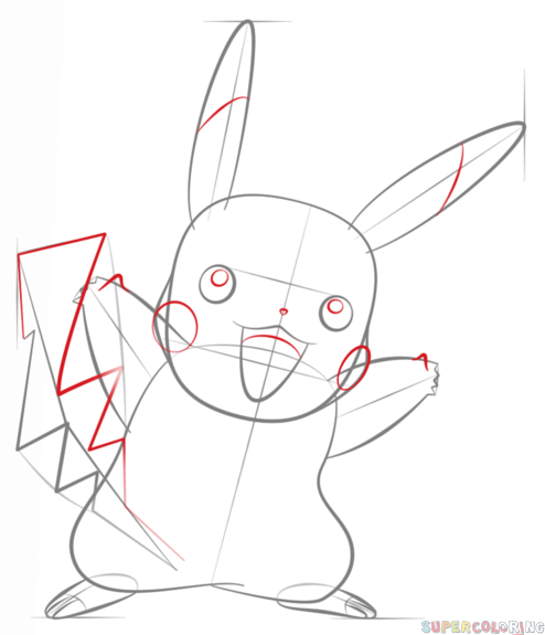 how to draw pikachu pokmon step by step drawing tutorials