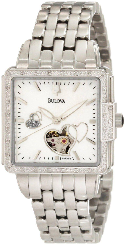 7be4f0d7beaa Bulova Women s 96R155 Diamond Mechanical Watch