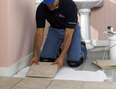 How To Install Floor Tile Tips And Tricks For Installing Tile In Your Home Skill Level Beginner Tile Floor Diy Diy Flooring How To Lay Tile
