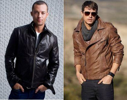 Combinar chaqueta piel marron hombre
