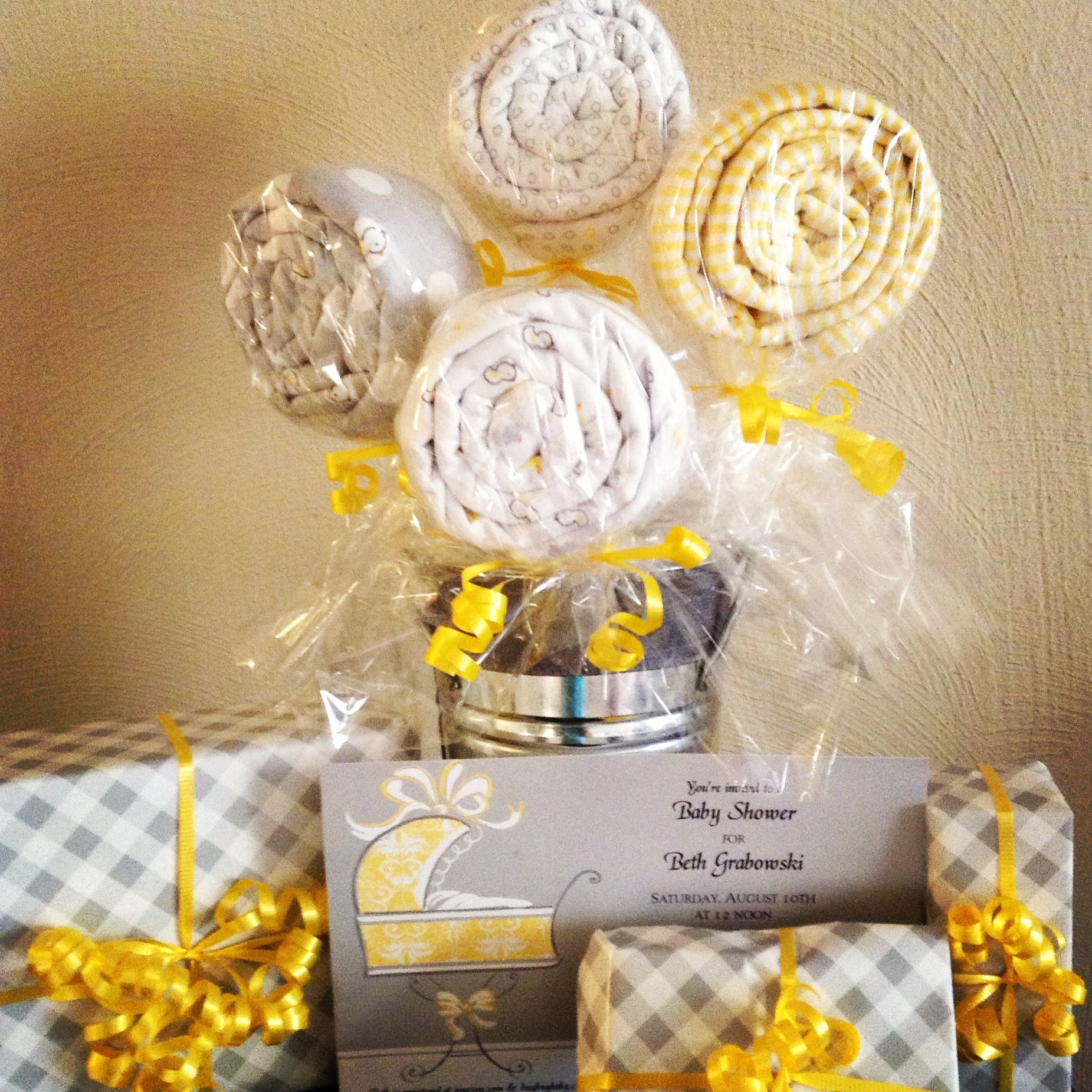 Gender neutral baby shower ideas - Gender Neutral Baby Shower Gray And Yellow
