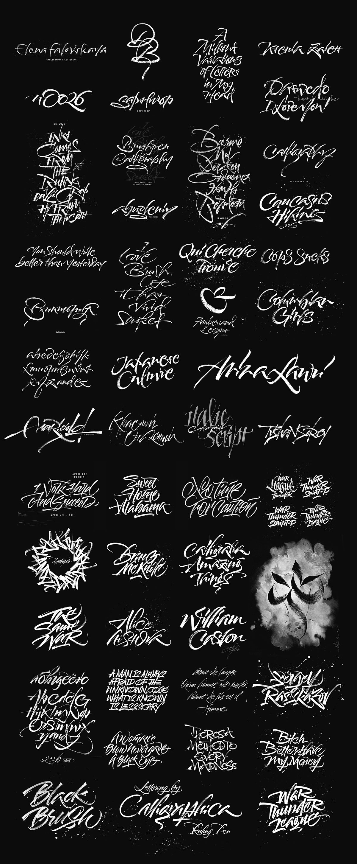 Recent Calligraphy Works on Behance Old school fonts