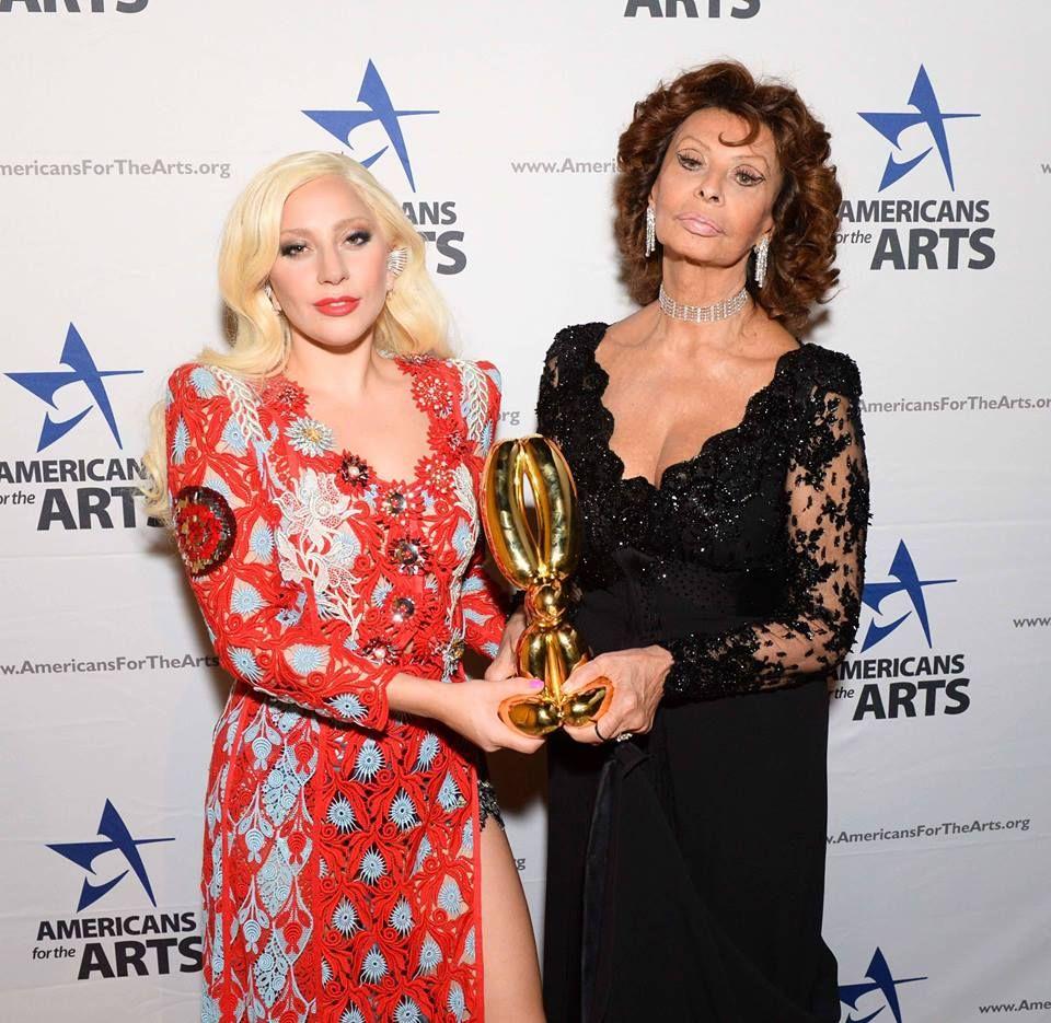 Lady GaGa and Sofia Loren - NYC Oct. 19th 2015