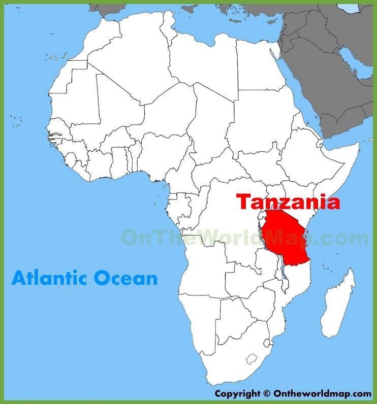 Tanzania Africa Map Tanzania location on the Africa map | Africa map, African map, Map