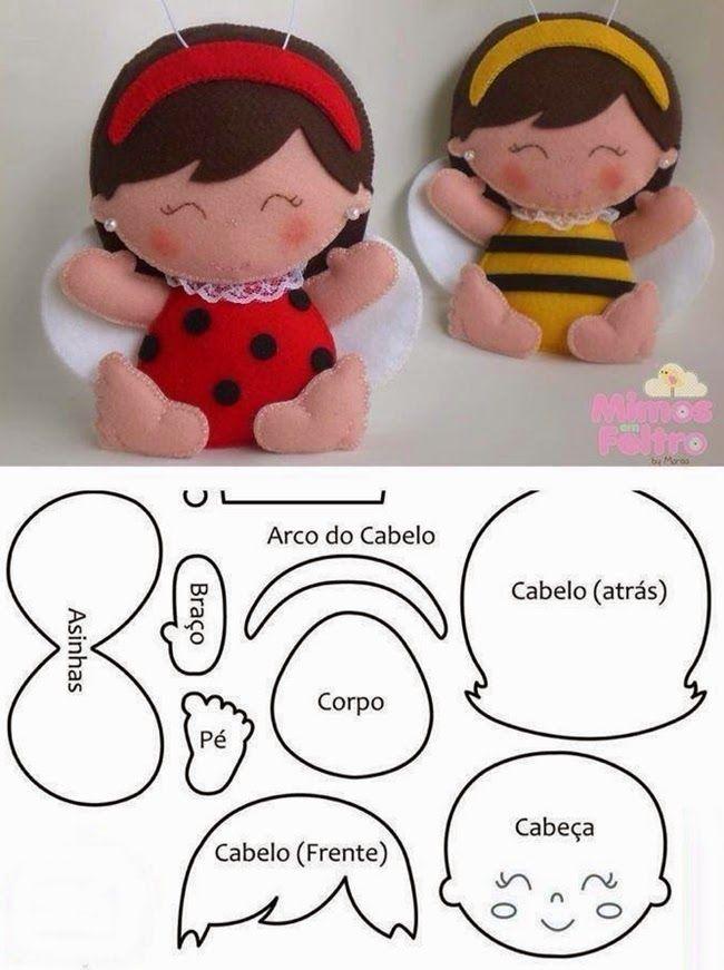 Filcből kézzel megvarrható, sokféle figura látható az alábbi képsoron, a bonyolultabb összeállításokhoz szabási sablonnal együtt. Az elkész...