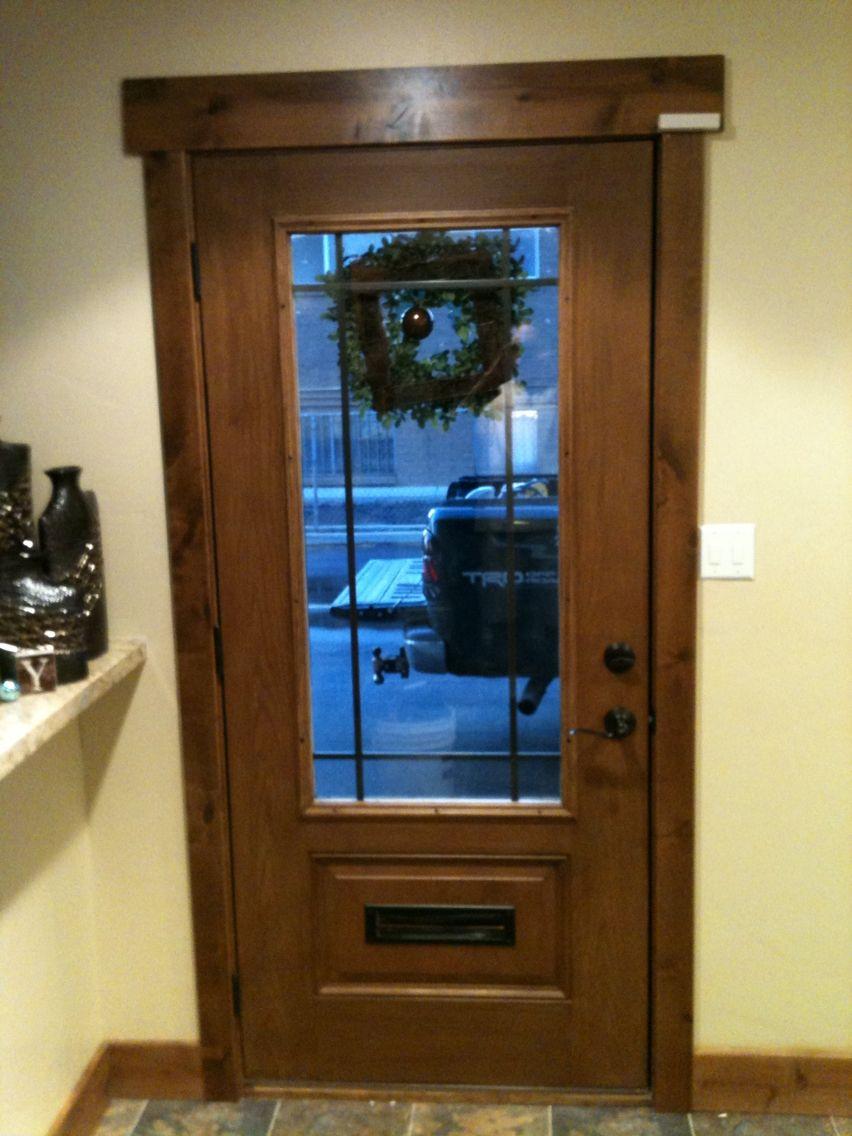 Custom Fiberglass Door With Perimeter Grid Glass Mail Slot Custom Fiberglass Door Fiberglass Door Mail Slots