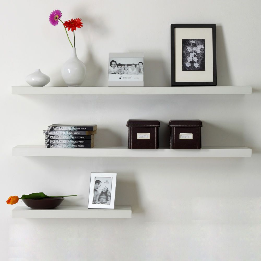 New Venice Floating Wall Shelf Kit White 12 24 36 48 Shelves Animal Wall Decor Wood Accent Wall Floating Wall Shelves