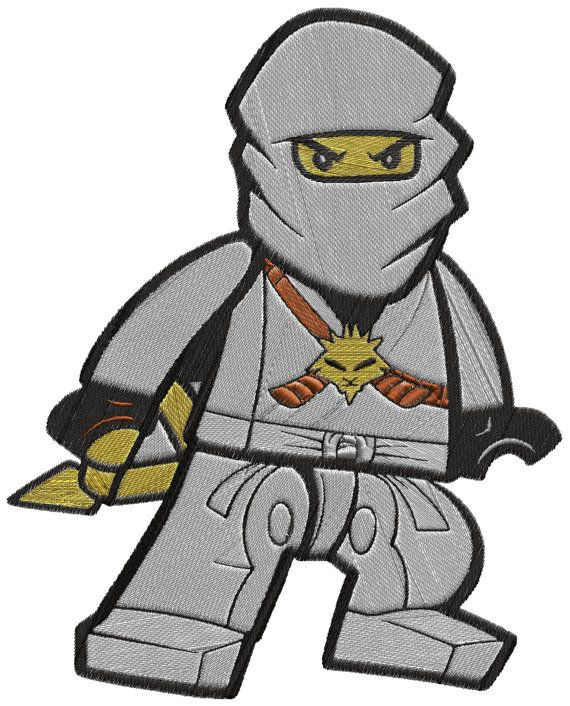 Ninjago White Digital Embroidery Design By Biaforcedesigns 350