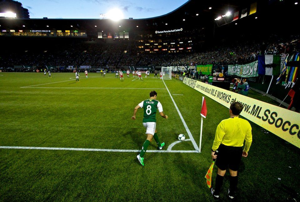 Corner At Jeld Wen Field Portland Timbers Portland Timbers Mls Soccer Oregon Ducks Basketball