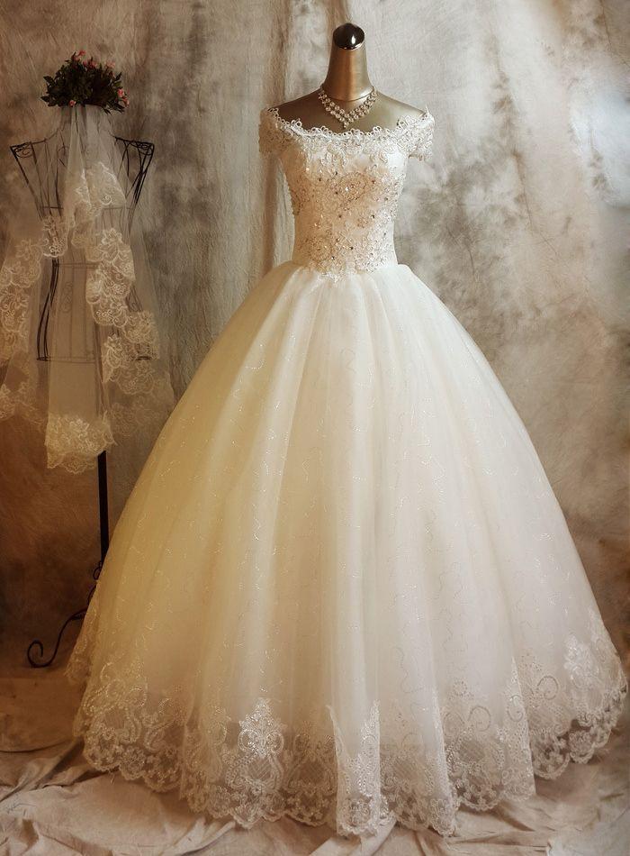 Shiny Lace Wedding Dress Its My Dreaming Wedding Dress WOw