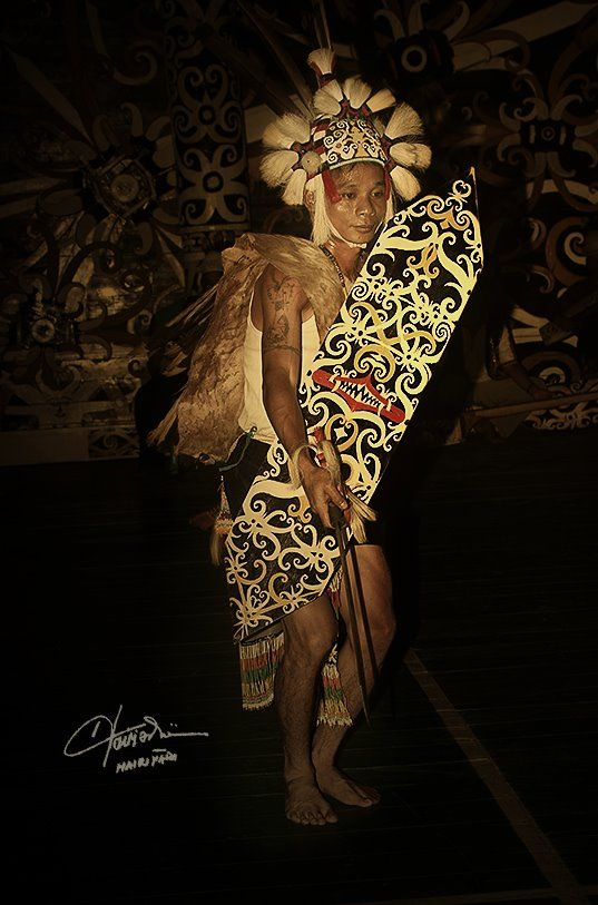 Warlords from Dayak Kenyah ethnic (Inspiring and Expression the Amateur Photographer, South of Borneo, Indonesia)