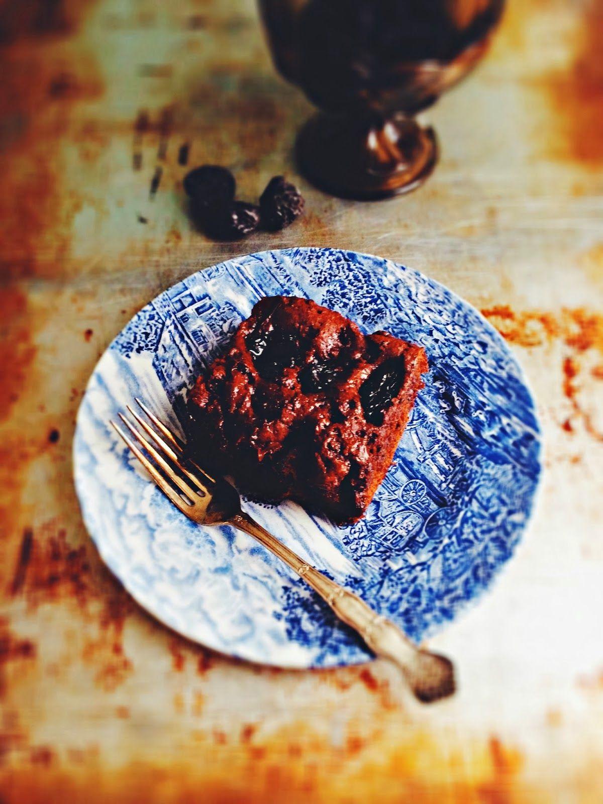 Get ready sticky boozy chocolate prune cake boozy