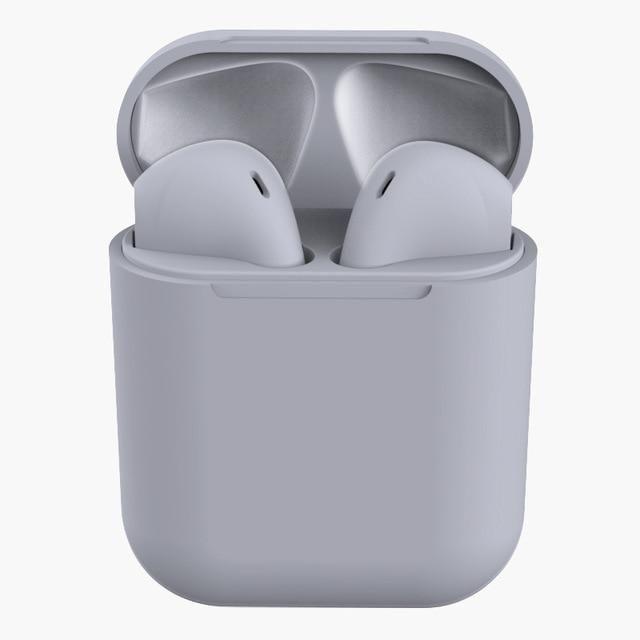 i12 Tws Wireless headphones Bluetooth earphones pink gamer headset Earbuds 5.0 - Gray