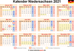 Kalender 2021 Niedersachsen Kalender Excel Vorlage Schulkalender