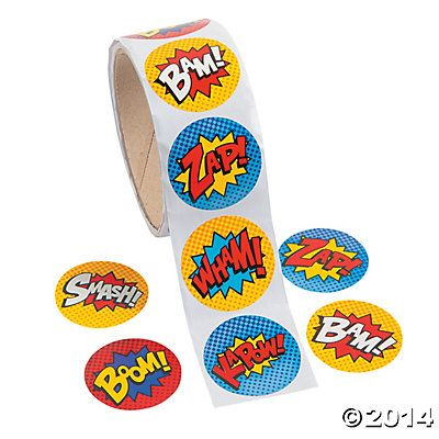 Superhero Stickers - Oriental Trading
