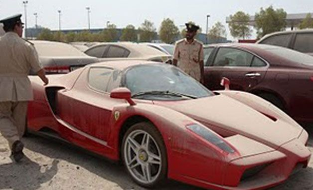 Abandoned 1m Ferrari Enzo Not Up For Sale After All Abandoned Cars In Dubai Ferrari Enzo Abandoned Cars
