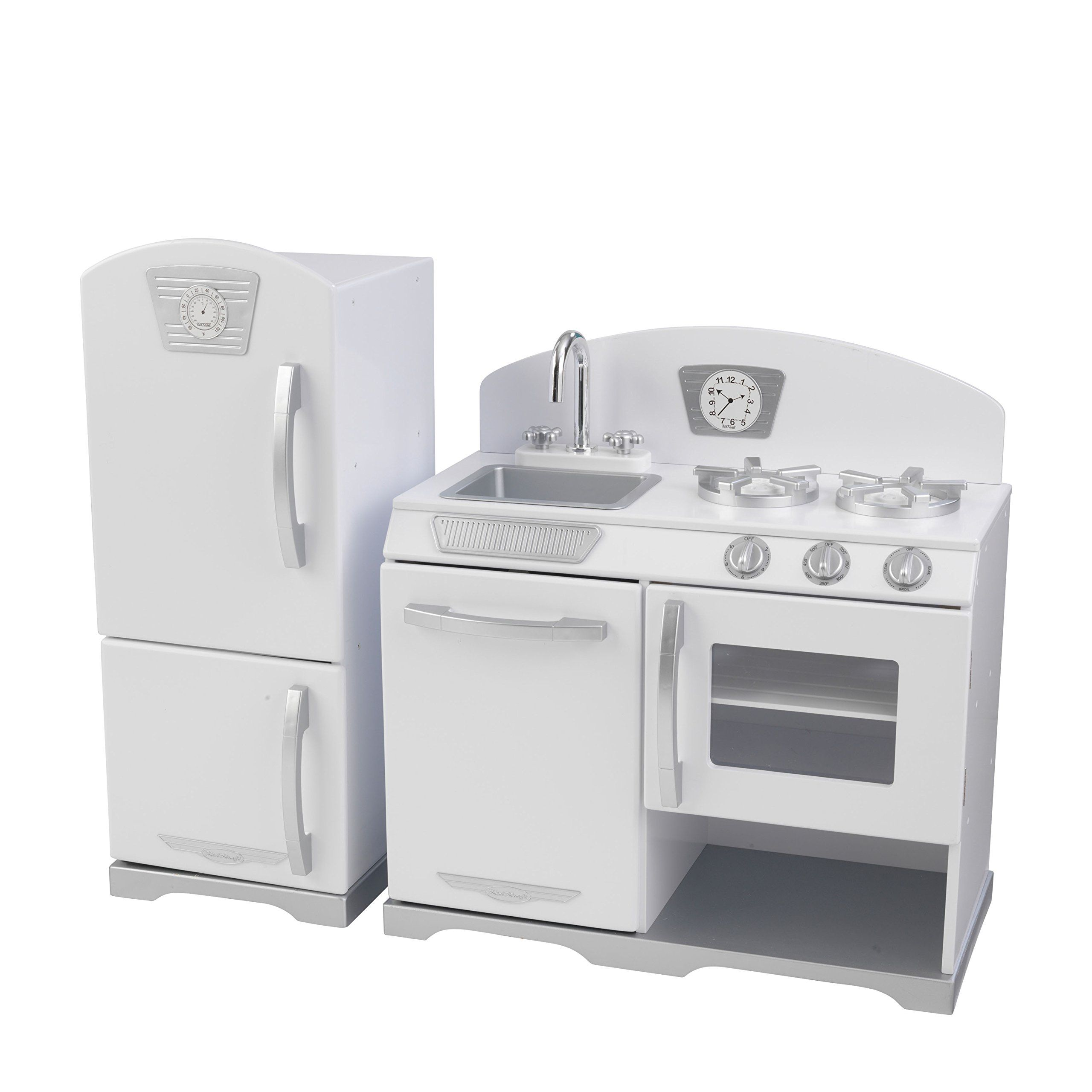KidKraft Retro Kitchen and Refrigerator (2-Piece), White   Kiddos ...