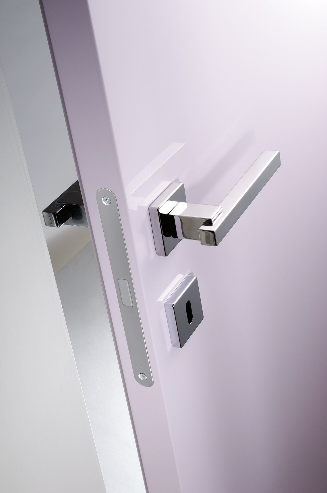 Graceful And Silent The Magnetic Lock Allows The Door To Close Through A Special Magnet When The Door Is Open The Latch B Door Latch Latches The Door Is Open